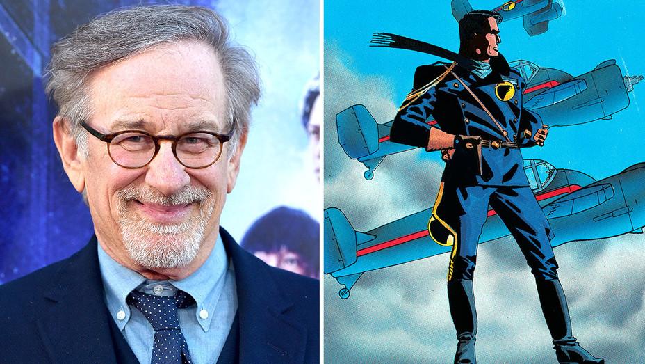 Steven Spielberg and Blackhawk image Split-Getty-H 2018