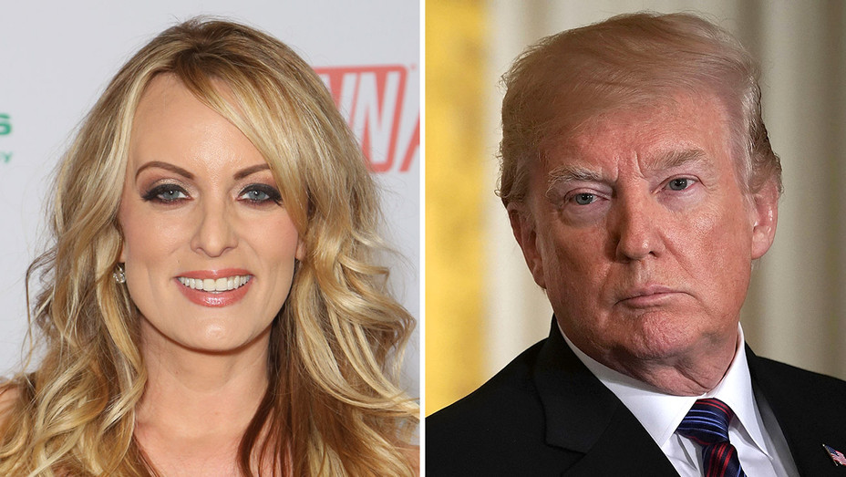 Stormy Daniels and Donald Trump_Split - Getty - H 2018