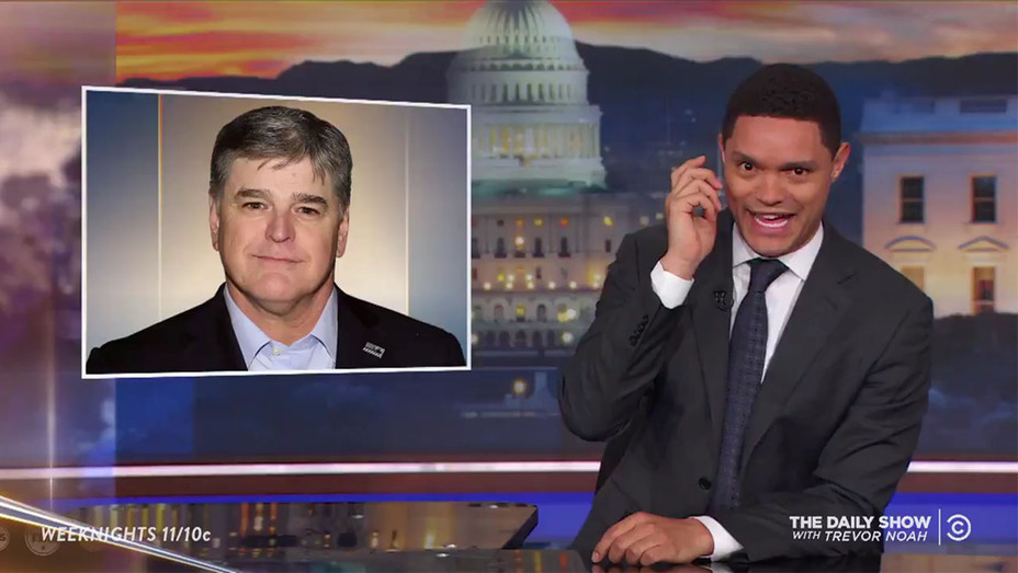 The Daily Show with Trevor Noah_Sean Hannity - Screengrab - H 2018