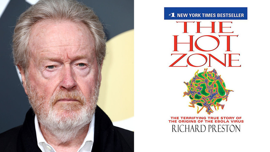 THE HOT ZONE by Richard Preston, split with image of Ridley Scott-H 2018