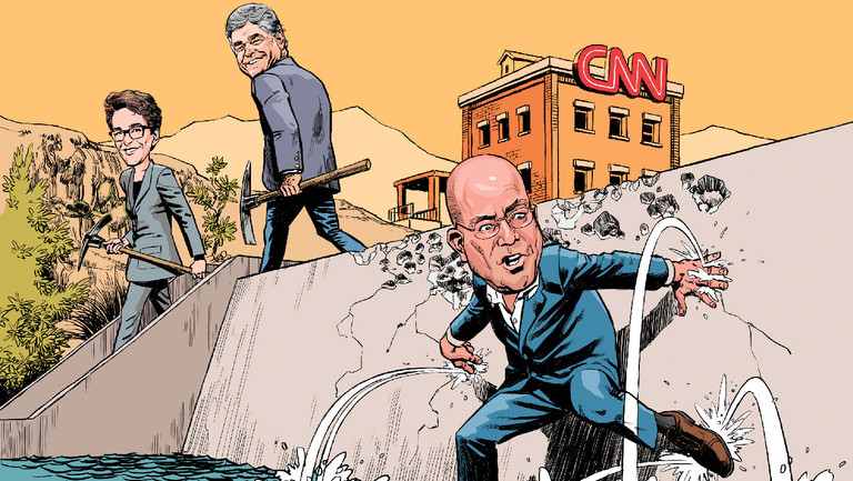 "Stuck in Third Place, Should CNN Abandon Its ""Food Fight"" Formula?"