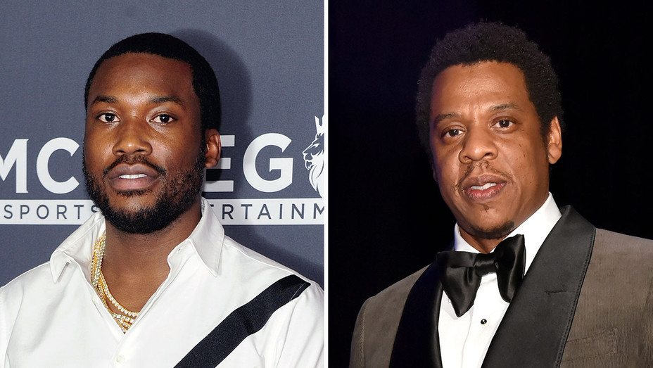 Meek Mill and Jay Z_Split - Getty - H 2018