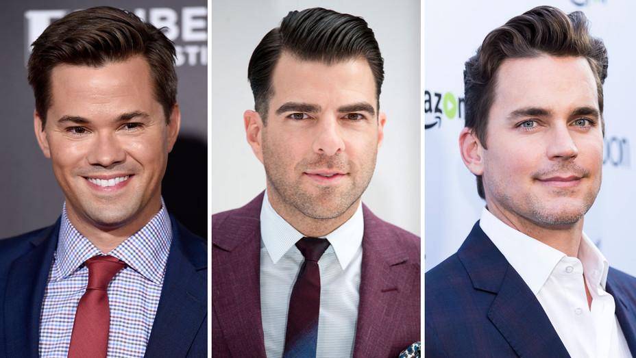 Andrew Rannells, Zachary Quinto and Matt Bomer - Split - Getty - H 2018