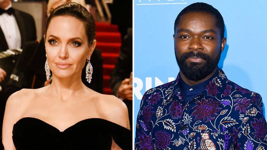 Angelina Jolie and David Oyelowo - Split - Getty - H 2018