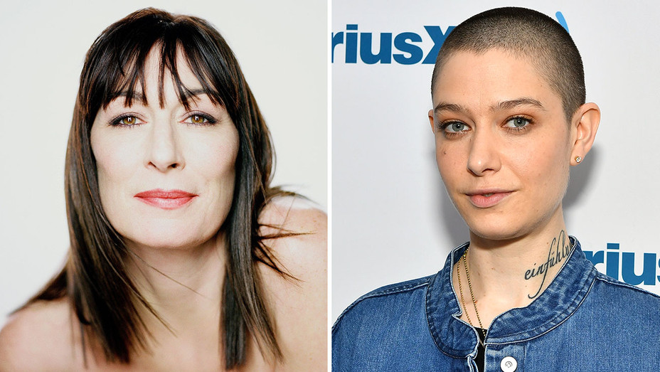 Anjelica Huston and Asia Kate Dillon Split-Publicity and Getty-H 2018