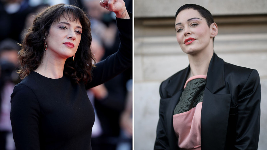 Asia Argento and Rose McGowan - Split - Getty - H 2018