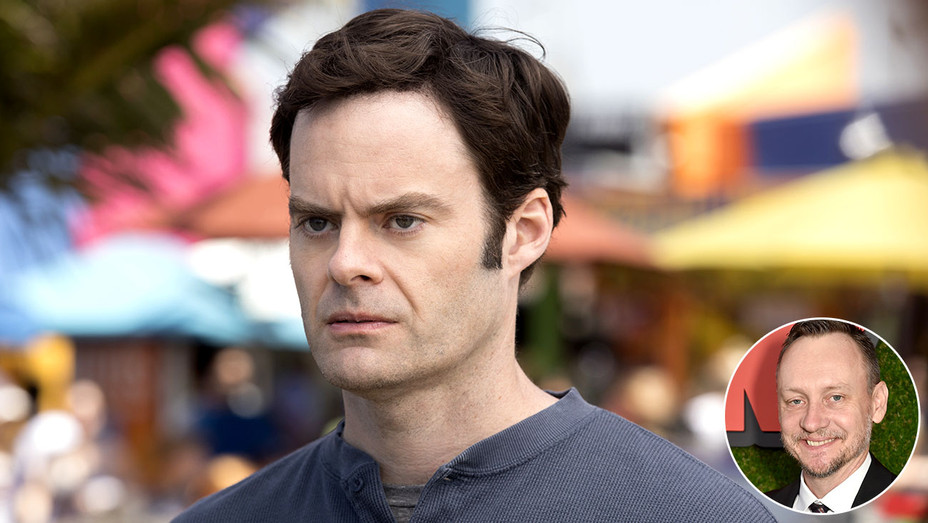 Barry HBO Still of Bill Hader and inset of Alec Berg - H 2018