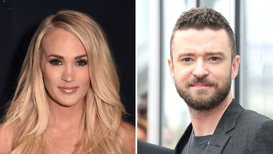 carrie underwood and justin timberlake_Split - Getty - H 2018