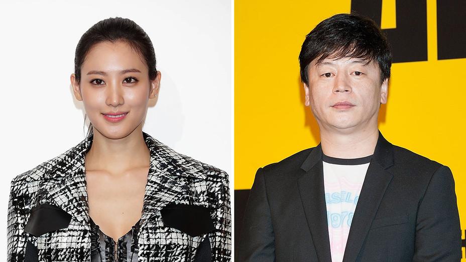 Claudia Kim and director Kim Yong-hwa_Split - Getty - H 2018