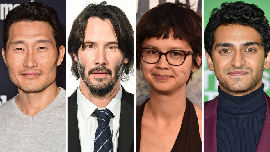 Daniel Dae Kim, Keanu Reeves, Charlyne Yi and Karan Soni - Split - Getty - H 2018