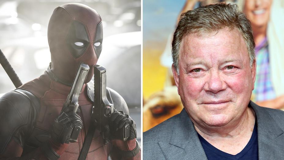 Deadpool and William Shatner - Getty - H Split 2018