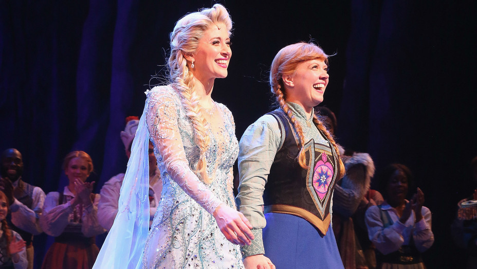 Caissie Levy and Patti Murin in Frozen on Broadway