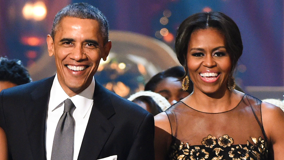 Michelle and Barack Obama - TNT Christmas 2014 - Getty - H 2018