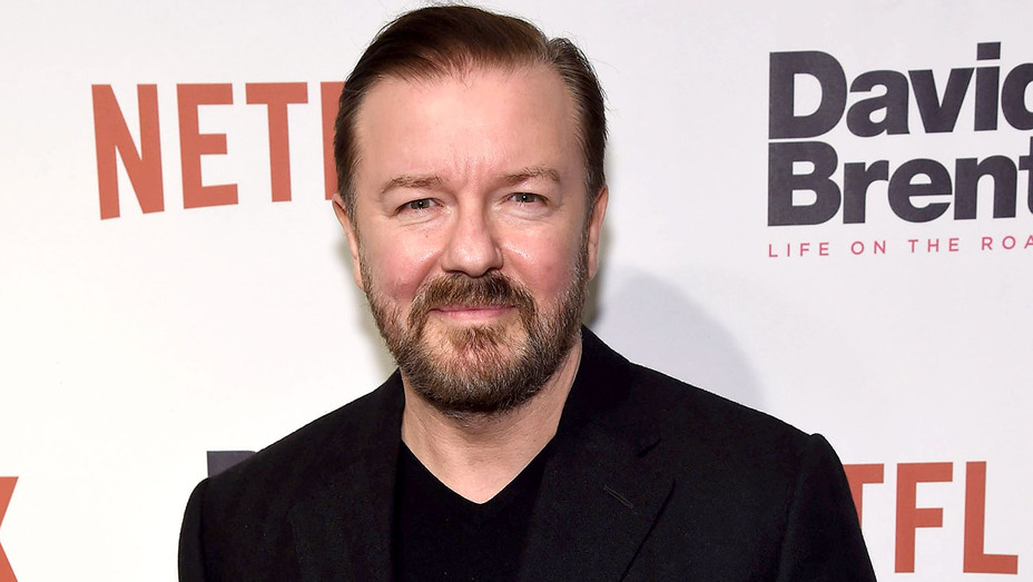 Ricky Gervais attends David Brent Life on the Road New York screening February 2, 2017 - Getty-H 2018