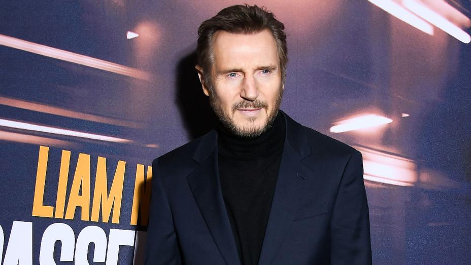 Liam Neeson - The Passenger Paris Premiere - Getty - H 2018