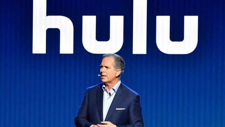Randy Freer speaks onstage during Hulu Upfront 2018 - May 2, 2018 - Getty-h 2018