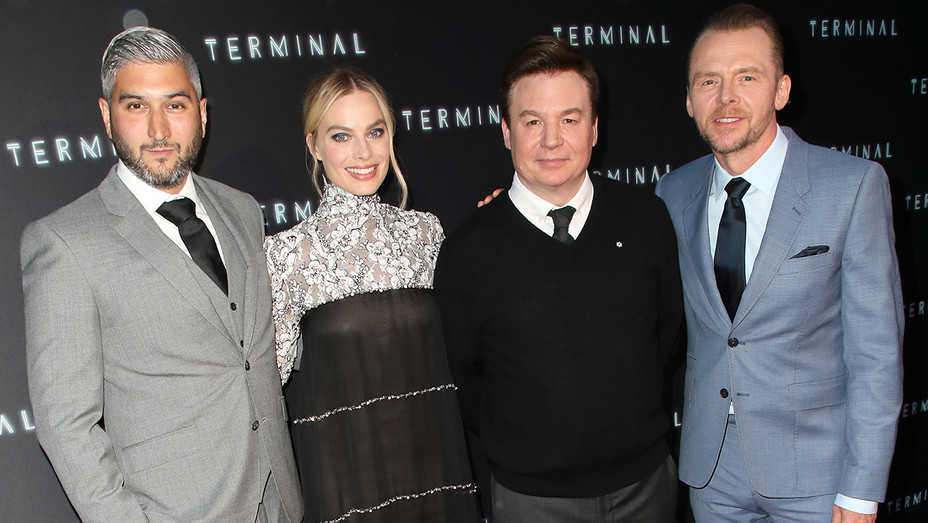 Vaughn Stein Margot Robbie Mike Myers Simon Pegg Terminal Premiere - Getty - H 2018