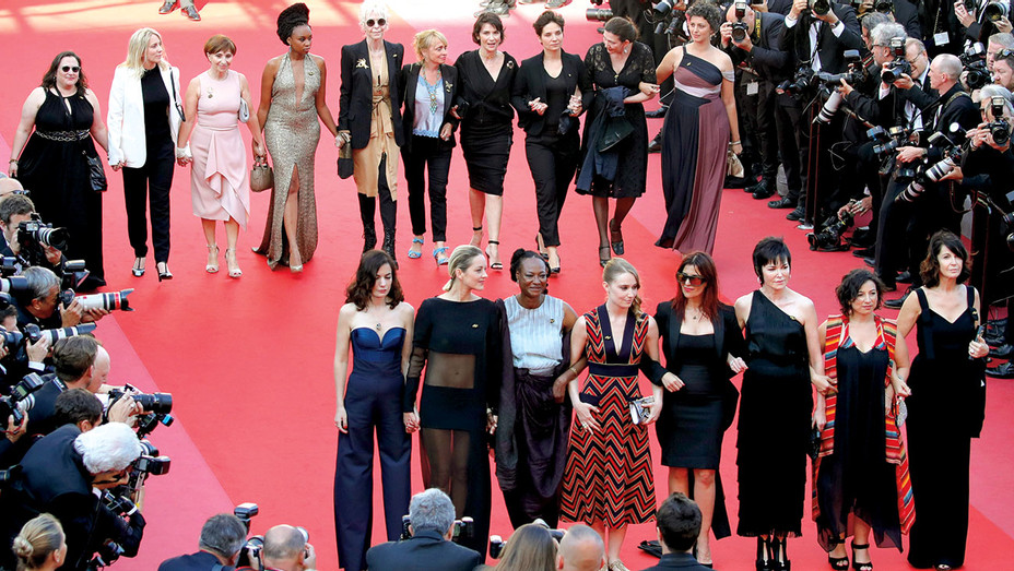 Cannes Film Festival  -Filmmakers walk the red carpet in protest  - Getty-H 2018