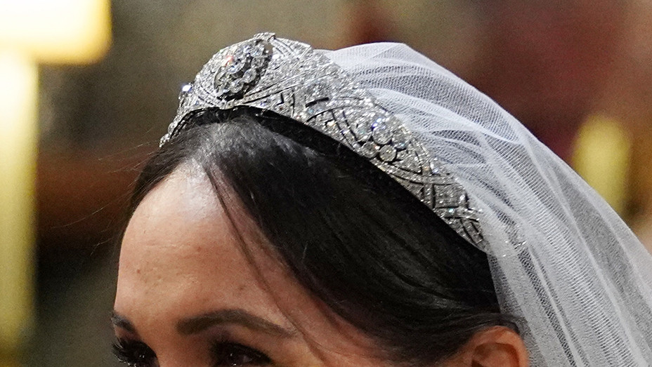 Meghan Markle Tiara St Georges Chapel - Getty - EMBED 2018