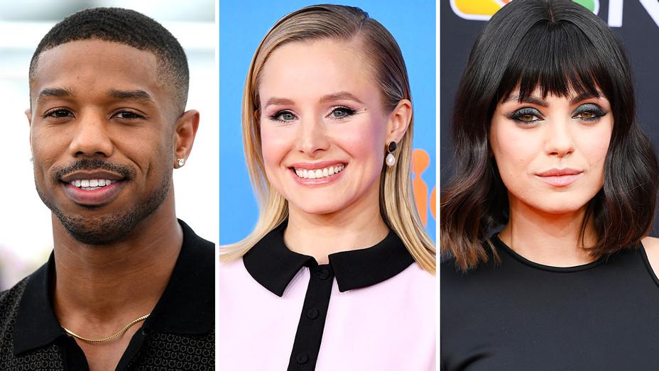 Michael B. Jordan, Kristen Bell and Mila Kunis Split- Getty -H 2018