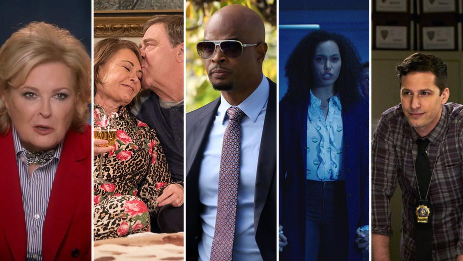 Murphy Brown_Roseanne_Lethal Weapon_Charmed_Brooklyn Nine Nine_Split - Publicity - H 2018