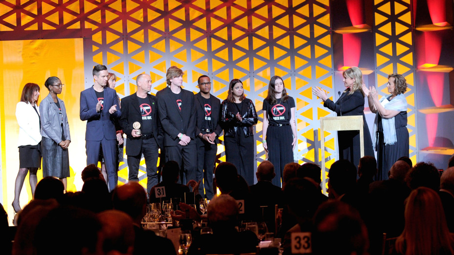 Newtown and Parkland survivors at Peabody Awards - H Getty 2018