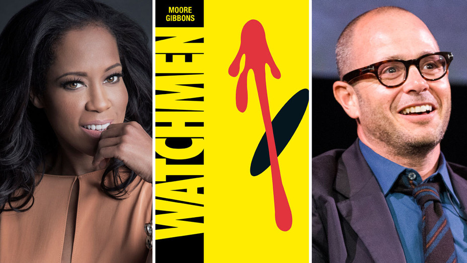 Regina King, Watchmen and Damon Lindelof - Split - Getty - H 2018