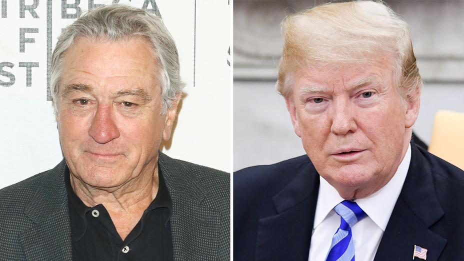 Robert De Niro and Donald Trump - Split - Getty - H 2018