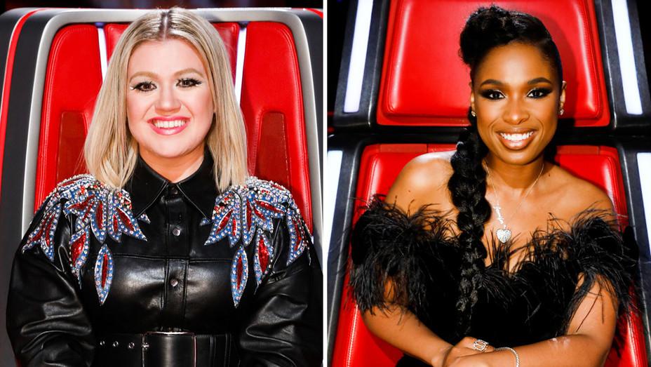 The Voice Still Kelly Clarkson and Jennifer Hudson - Split - Publicity - H 2018