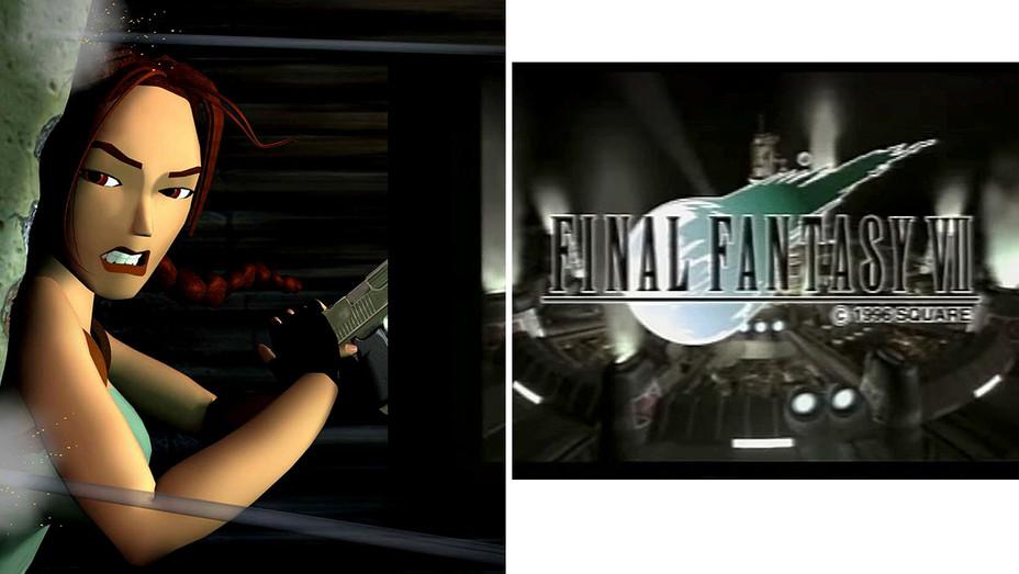 Tomb Raider and Final Fantasy VII Trailer 1997-Split -Photofest-2018
