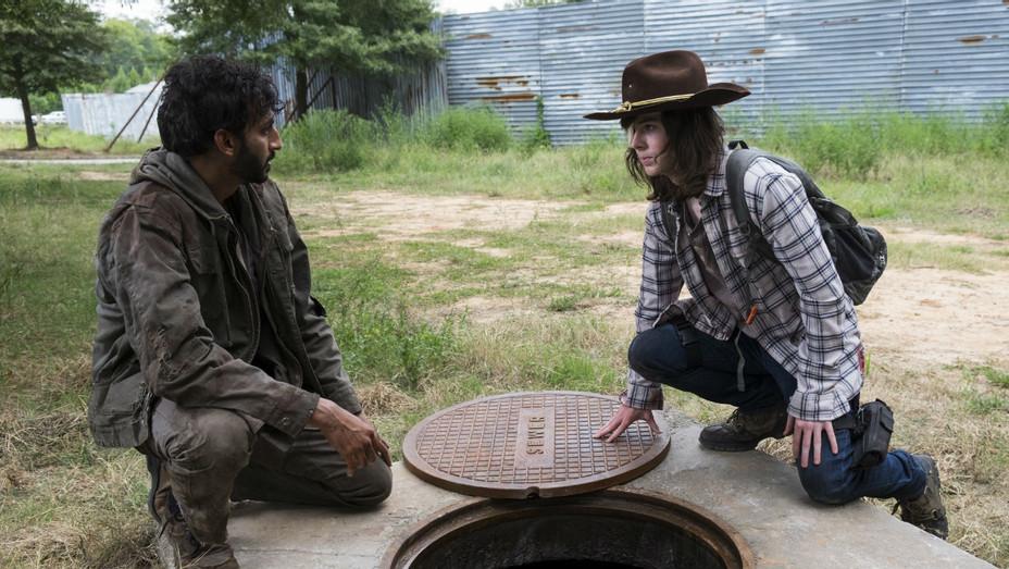 Avi Nash and Chandler Riggs Walking Dead - Publicity - H 2018