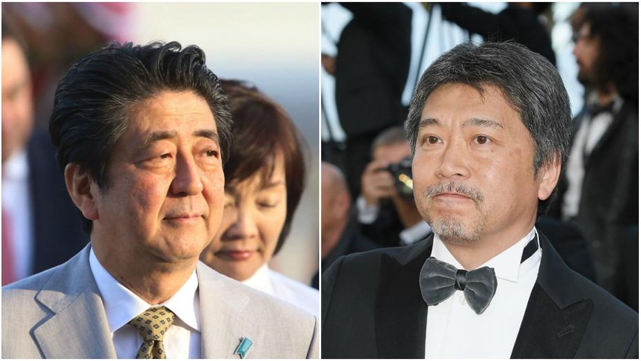 Shinzo Abe and Hirokazu Kore-eda Split - Getty - H 2018