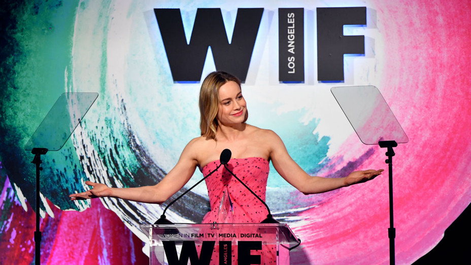 Brie Larson WIF Awards - Getty - H 2018