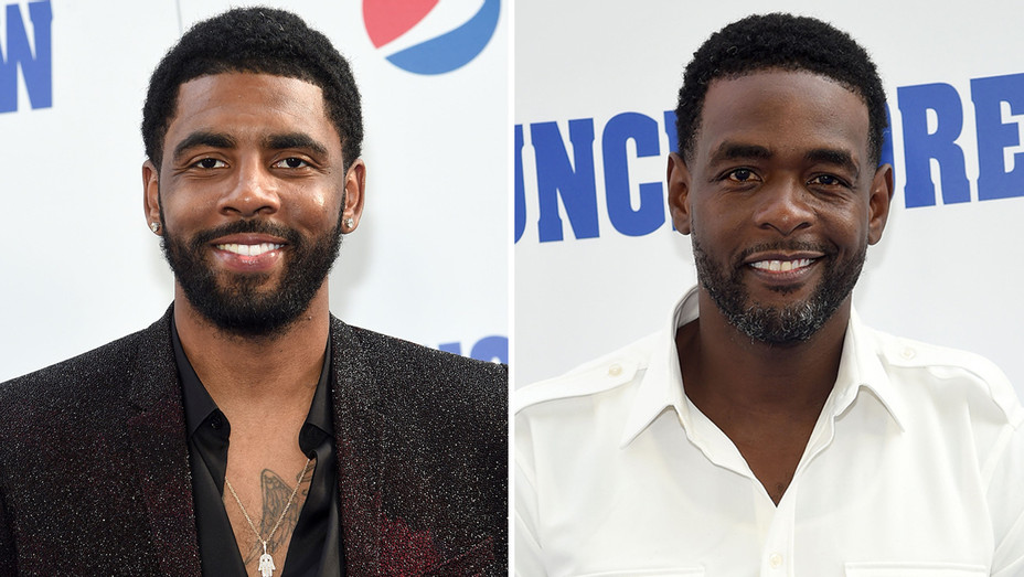 Chris Webber and Kyrie Irving at Uncle Drew NY Premiere - Getty - H Split 2018