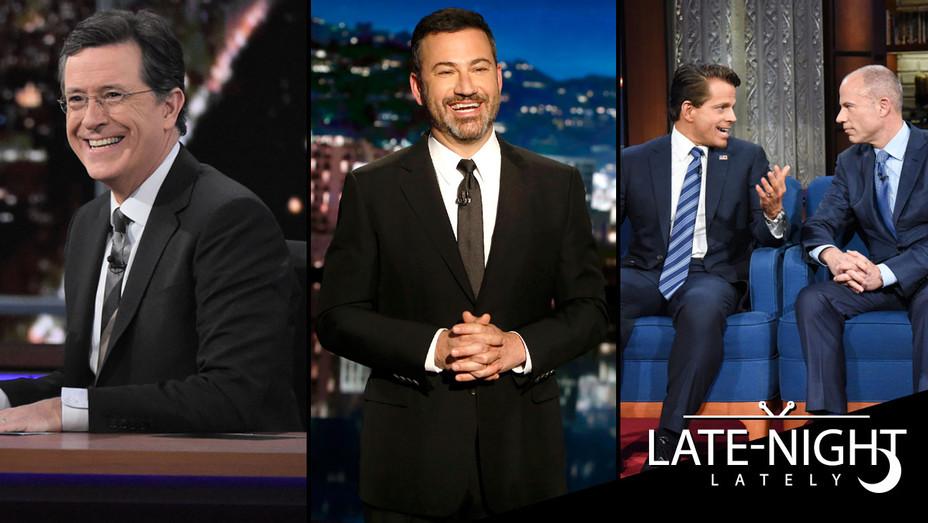 Colbert - Kimmel - Scaramucci - Avenetti - SPLI - H LateNightLately copy