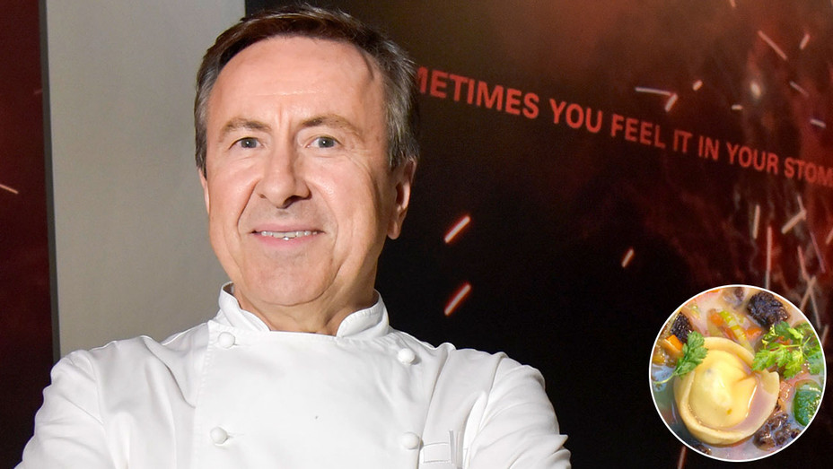 Daniel Boulud on left and inset tortellini -H 2018