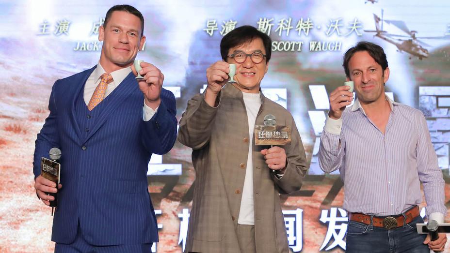John Cena Jackie Chan Scott Waugh in Shanghai - H 2018