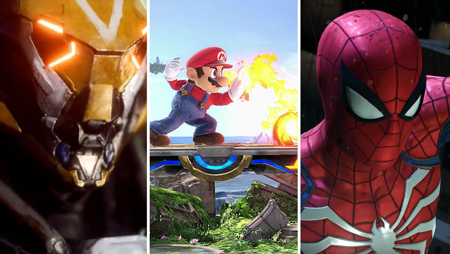 Anthem, Spider-Man and Super Smash Bros Split-Screen shots-H 2018