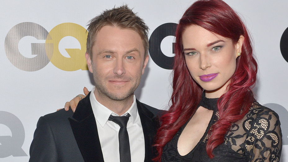 Chris Hardwick and Chloe Dykstra attend the GQ Men Of The Year Party - 2013-Getty-H 2018