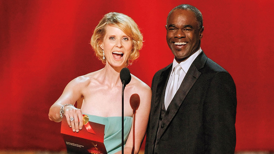 Cynthia Nixon and actor Glynn Turman - 60th Primetime Emmy Awards- Getty-H 2018