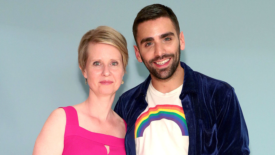 Cynthia Nixon and Phillip Picardi attend Teen Vogue Summit 2018 - Getty-H 2018