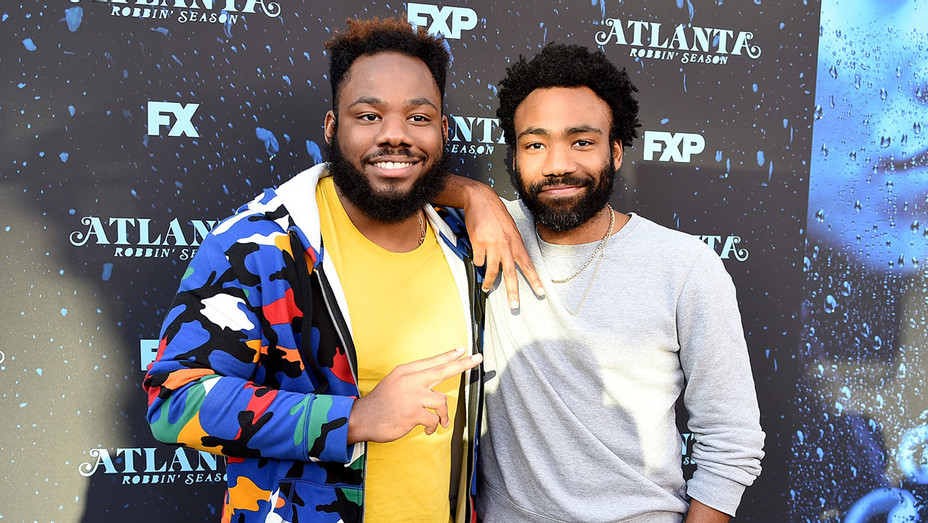 Stephen Glover and Donald Glover arrive at FX's Atlanta Robbin Season FYC Event - Getty-H 2018