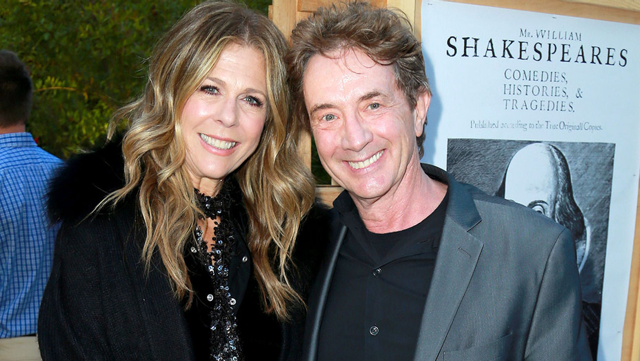 Rita Wilson and Martin Short attend the Opening Night Celebration Of Shakespeare's Henry IV - Getty-H 2018