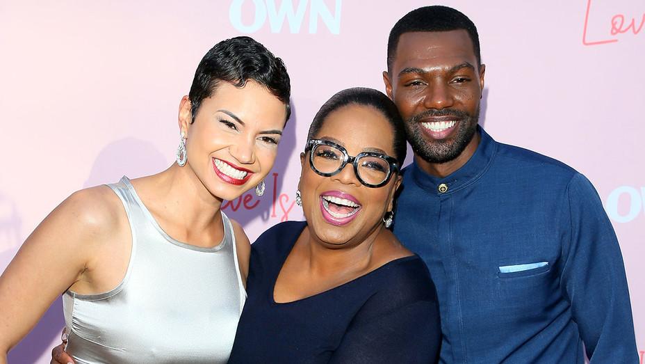 Los Angeles premiere of OWN's Love Is - Michele Weaver, William Catlett and Oprah Winfrey - Getty - H 2018
