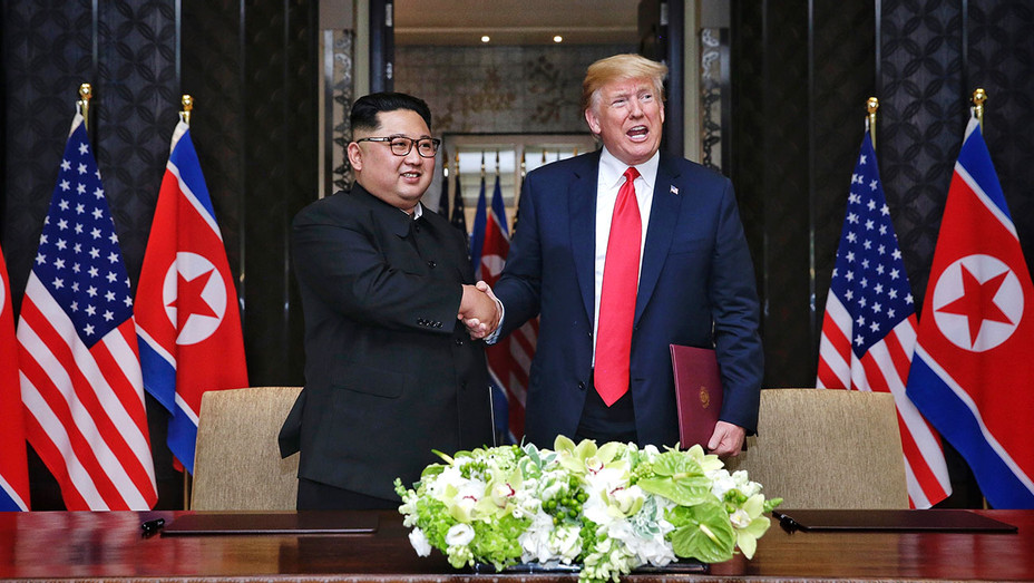 Kim Jong-un and President Donald Trump -June 12, 2018 in Singapore- Getty-H 2018