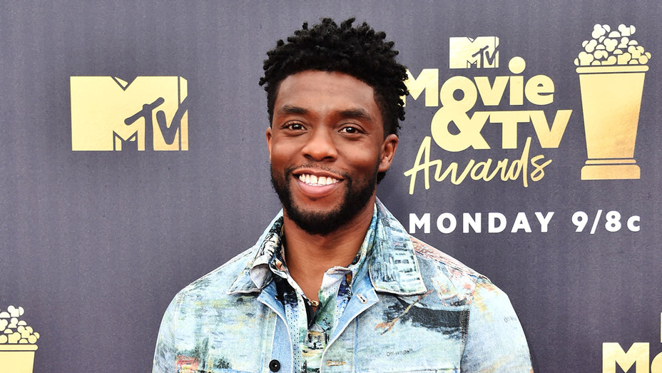 Chadwick Boseman attends the 2018 MTV Movie And TV Awards -Getty H 2018