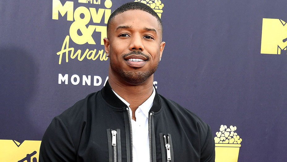 Michael B. Jordan arrives at the 2018 MTV Movie And TV Awards - GEtty-H 2018