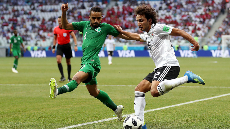 Egypt and Saudi Arabia during the 2018 FIFA World Cup Russia group A match - Getty-H 2018