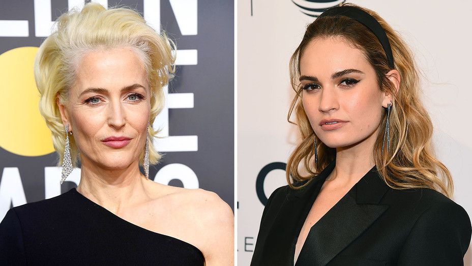 Gillian Anderson - Lily James - Split-Getty-H 2018