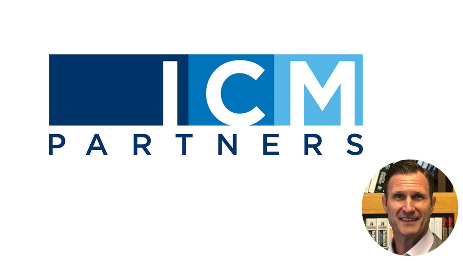 ICM partners logo and inset of Billy Hallock-H 2018